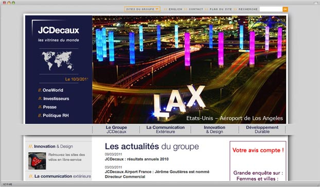 JS Decaux website